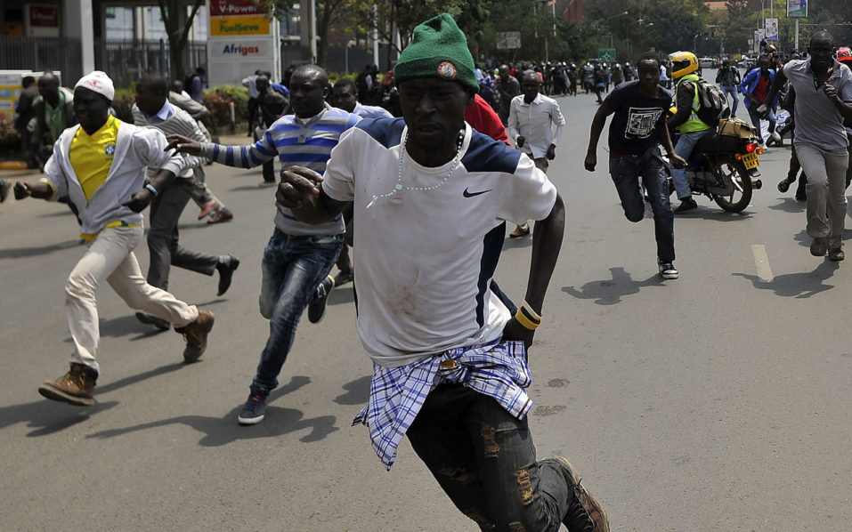 Kenya police fire tear gas to disperse election protesters