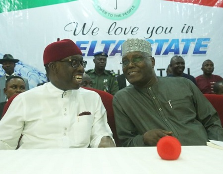 Okowa Hails Atiku's Victory, Congratulates PDP On Successful Convention